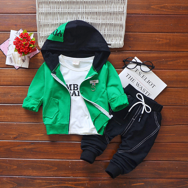 Newborn baby spring clothing set infant boys 3pcs casual kids sport suits boys cotton tracksuits costume baby boys autumn sets kids sport suits boys girls tracksuits children clothing baby infant outfits 4 color fashion sets 2018 spring autumn kid clothes