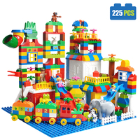 225PCS Big Size Building Blocks Number Train Bricks Birthday Gift DIY Compatible With Legoe Duplo Educational
