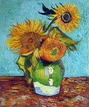 Sunflowers First Version by Vincent Van Gogh Handpainted