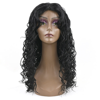 Soowee Long Deep Wave Hairstyle Synthetic Hair Black Wigs Party Hair Cosplay Wigs For Black Women