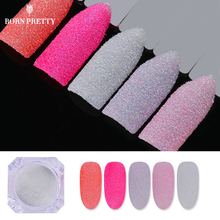 5 Boxes Holographic Sugar Nail Glitter Powder Colorful Sandy Summer Nail Art Pigment 12 Candy Colors