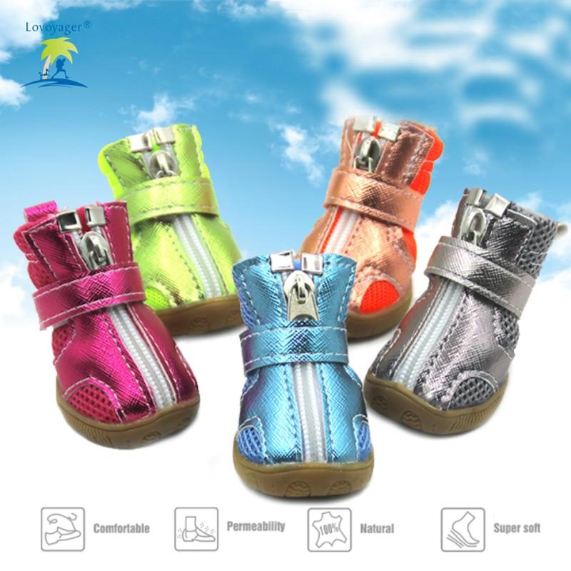 Fashion 4Pcs / lot Ընտանեկան շուն կոշիկներ - Ապրանքներ կենդանիների համար