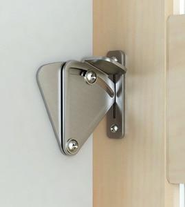 DIYHD barn door lock stainless steel barn door latch black barn door lock for sliding barn door(China)