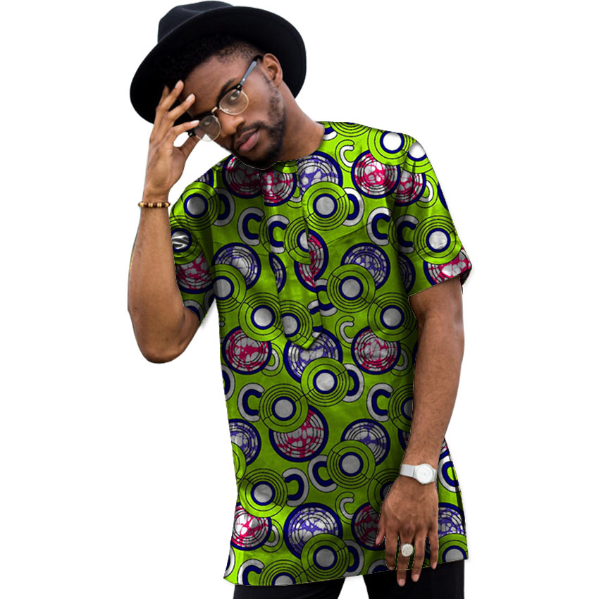 Sommar Dashiki Män Klänning Afrikansk Kläder Mode Tryck Korta - Nationella kläder - Foto 1