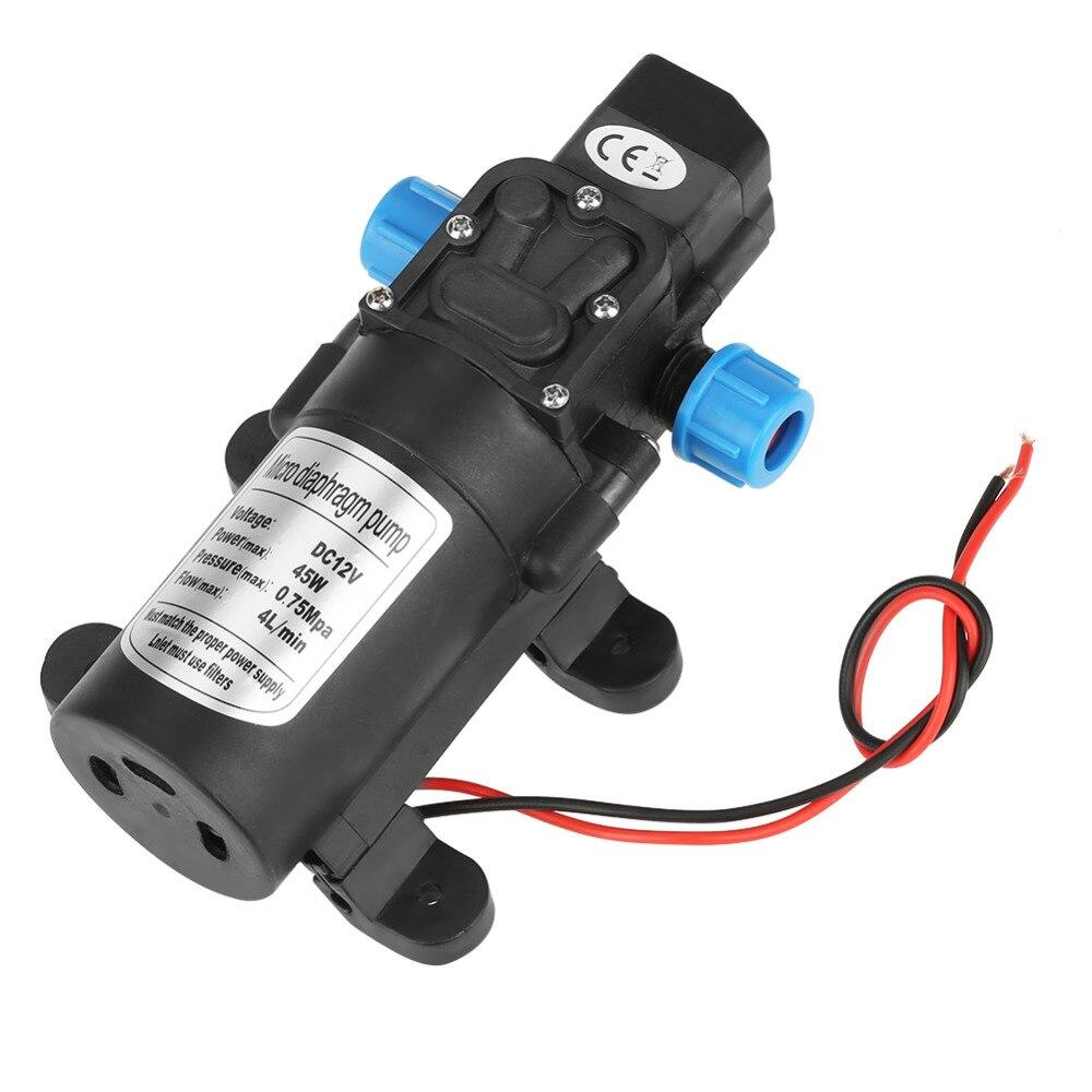 Pumpen Heimwerker Klug Dc 12 V 45 Watt Micro Membran Wasser Selbst Pumpe Geräuscharm 4l/min Durchfluss Schwarz Mit Filter