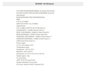Image 4 - Unlocked Huawei ME909S 120 Mini pcie LTE FDD 4G WCDMA HSPA + DC HSPA kenar GPRS GSM dizüstü dizüstü 100% yeni ve orijinal