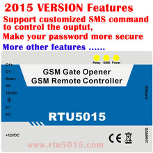 Free shipping GSM gate opener 2digital input 1 relay out mobile phone control Andriod APP Caller ID access door lock RTU5015