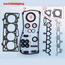4G13 для MITSUBISHI седан Lancer COLT CARISMA 16V 1.3L уплотнительная прокладка двигателя полный комплект прокладка двигателя MD978013 MD978236 50217900