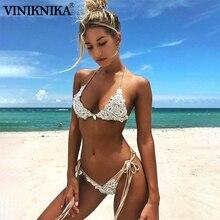 VINIKNIKA Woman Crystal Sequins Bikini Set Summer Beach Tether Solid Swimsuit High Quality Fabric Sexy Lady Low Waist Swimwear