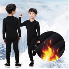 Г. Новое осенне-зимнее термобелье для детей, быстросохнущие эластичные компрессионные теплые кальсоны, мужской повседневный комплект термо-нижнего белья