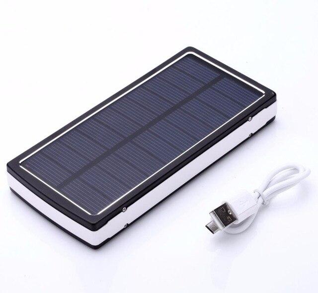 PowerBoy Solar Power Bank 20000 mAh Capacidade Real Carregador Universal Solar carregador de Bateria externa Dupla Saída USB LED portátil
