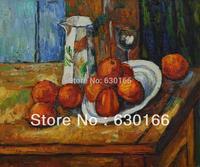 Handgemaltes Ölgemälde für Esszimmer-Bricoo, Bicchiere e Piato durch Paul Cezanne Leinwand Kunst Malerei