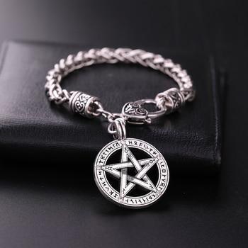 Viking Runes Pagan Wiccan Pentacle Sacred Vintage Jewelry  Viking Bracelet