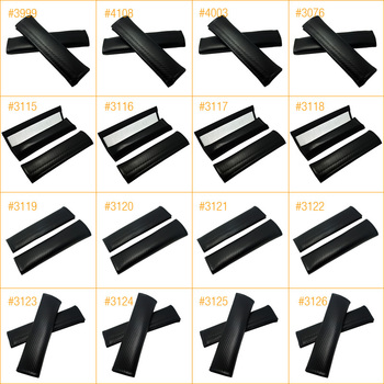30Pairs Carbon Fiber Texture  Seat Belts Cover Shoulder Padding For Mixed-Order #FD-4270