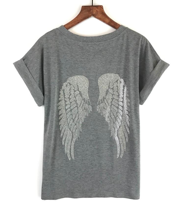 HTB1EoqJOpXXXXcTXXXXq6xXFXXXS - Punk Rock T shirt Women Wing Sequins Sequined T-shirt