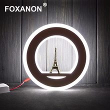 Foxanon lámparas de pared LED iluminación interior 15W AC220V 110V 127V candelabro Simple moderno luces de pared para dormitorio cabecera decoración del hogar(China)