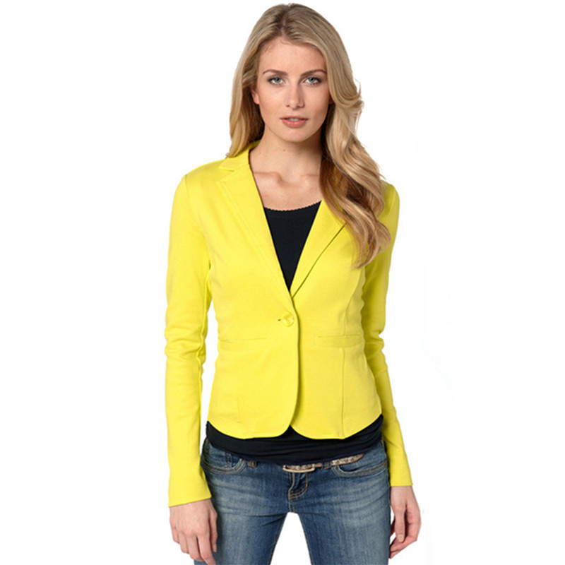 Women's Casual Small Suit Female Candy Color Slim Jacket