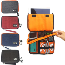 Travel USB Cable Organizer Bag Case For Carrying Digital Charger Portable Storage Container Pen Earphone Zipper Pouch Kit portable power source storage bag usb data cable organizer digital charger storage bags earphone pouch outdoor travel kit case