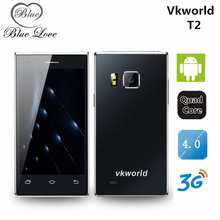 Original VKworld vk T2 3G WCDMA Flip Smartphone 4 inch Android 5.1 MTK6580 Quad Core Dual SIM 1G RAM 8G ROM Mobile Phone