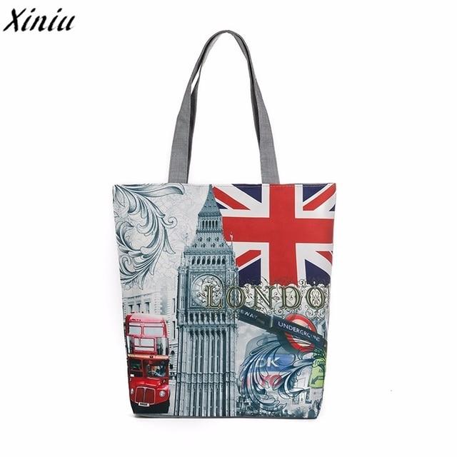 af7524e9be4b London Big Ben Fashion Ladies Canvas Tote Casual Beach Bags Women Shopping Bag  Handbags For Women Messenger Bags High Quality