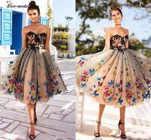 4c70b11741 2019 modesto corto vestidos de baile con apliques de mariposa cariño por  debajo de la rodilla longitud de línea de Noche Vestido.