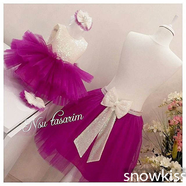 2016 Bling Sequin flower girl dresses baby Birthday Party Dress toddler girl beauty pageant dresses for kids Puffy ball gowns