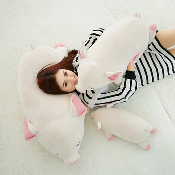 Dorimytrader Lovely Pop Giant Soft Lying Animal Pig Plush Pillow Stuffed Cartoon Pigs Doll Toy Kids Gift 39inch 100cm DY61568