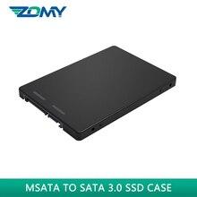 Zomy msata ssd case 2.5 inches MSATA to SATA 3.0 portable SSD enclosure msata to 2.5″ sata convertor adapter card for mac laptop