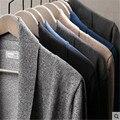 Los hombres chaqueta de punto con cuello en v 2016 primavera nuevas chaquetas de punto para hombre casual cardigan hombres suéter slim fit con el bolsillo más el tamaño M-4XL