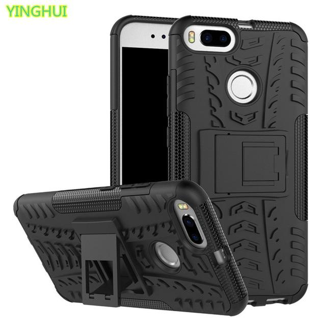 online store c31e5 46d8c US $3.05 14% OFF|For Xiaomi Mi A1 Case Xiaomi MiA1 Cases Kickstand Armor  Duty TPU + PC Shockproof Case For Xiaomi Mi A1 A 1 Covers Silicone Case-in  ...