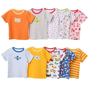 Short-Sleeve Tops Tshirt Random-Color Toddler Baby-Girl 100%Cotton Summer Print Cartoon