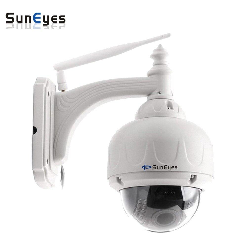 SunEyes SP-V706W Sans Fil PTZ Dôme IP Caméra Extérieure 960 P/1080 P HD avec 2.8-12mm Optique Zoom Mise Au Point Automatique Faible Lux IR Nuit
