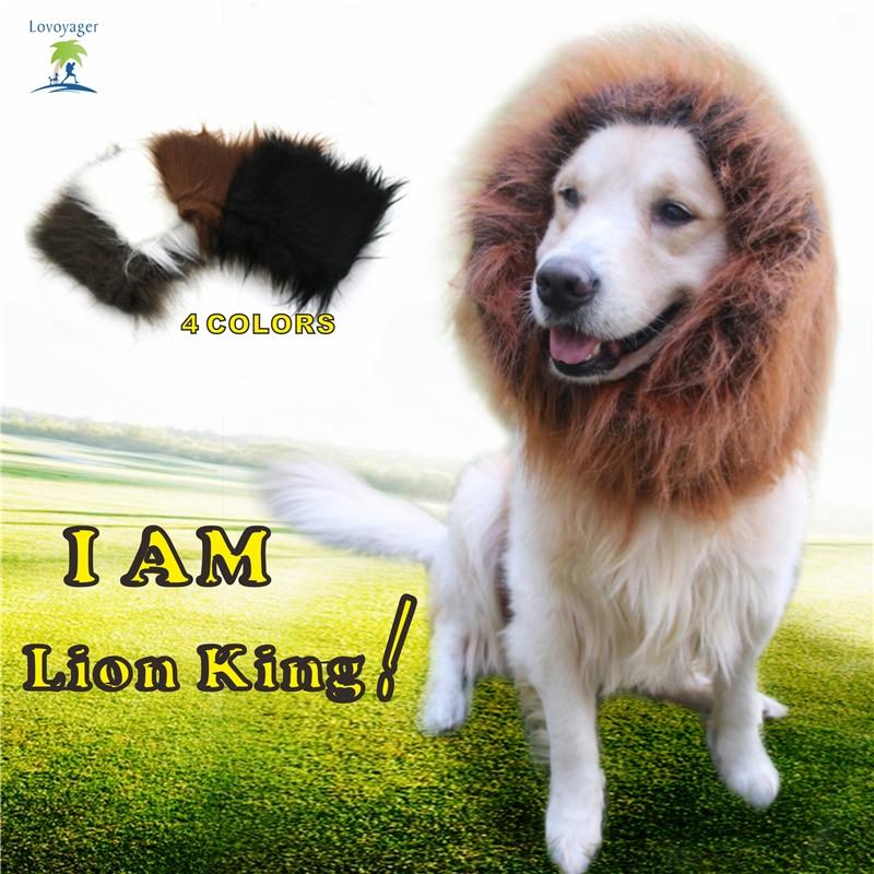 Fancy Dress Pet Costume Dog Lion Paruky Mane Hair Festival Party Halloween kostým Pet Lion vlasy příslušenství pro malé Lagre Dog