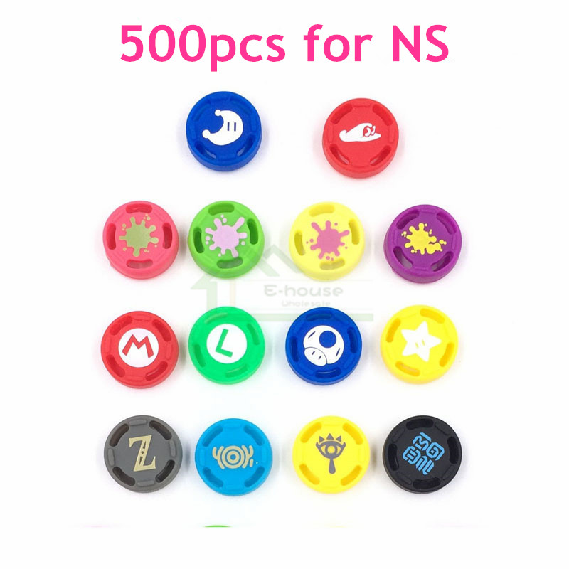 500pcs for Nintend Switch Joy con Controller Silicone Analog Cap Thumb Stick Grips Caps replacement for