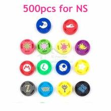 500 adet nintendo anahtarı Joy con denetleyici silikon Analog kap Thumb çubuk sapları kapakları değiştirme için NS Joy con Joystick kap