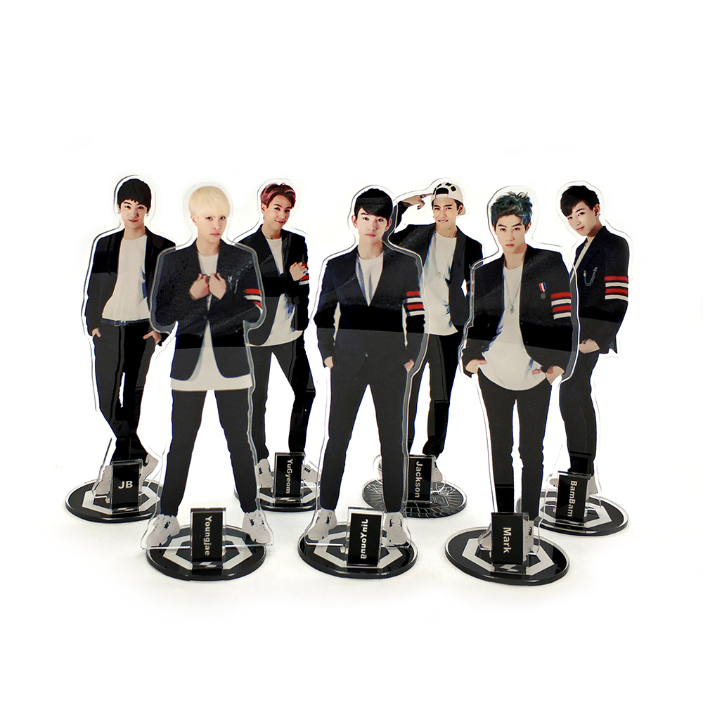 Love Thank You GOT7 KPOP stars group acrylic stand figure model double-side plate holder cake topper idol man
