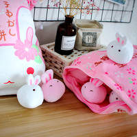 MIAOOWA 1PC 50CM Baby Cute Soft Pig Pudding Plush Doll Kid Lovely 8 Rabbit Pudding In Bag Stuffed Toy Kid Hand Doll Child Gifts