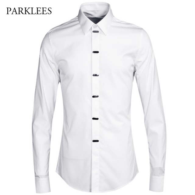 Robe chemise coton blanc