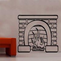 Trasporto Gratuito Open Fire Place Vinyl Wall Sticker Art Living dining Room Decor DECORAZIONE DELLA CASA