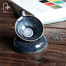 Fambe Tea Filter Cup Infuser Handmade Ceramic Oolong Pu 'er Tea Coffee Milk Strainer With Filter Tea Set Accessories tool