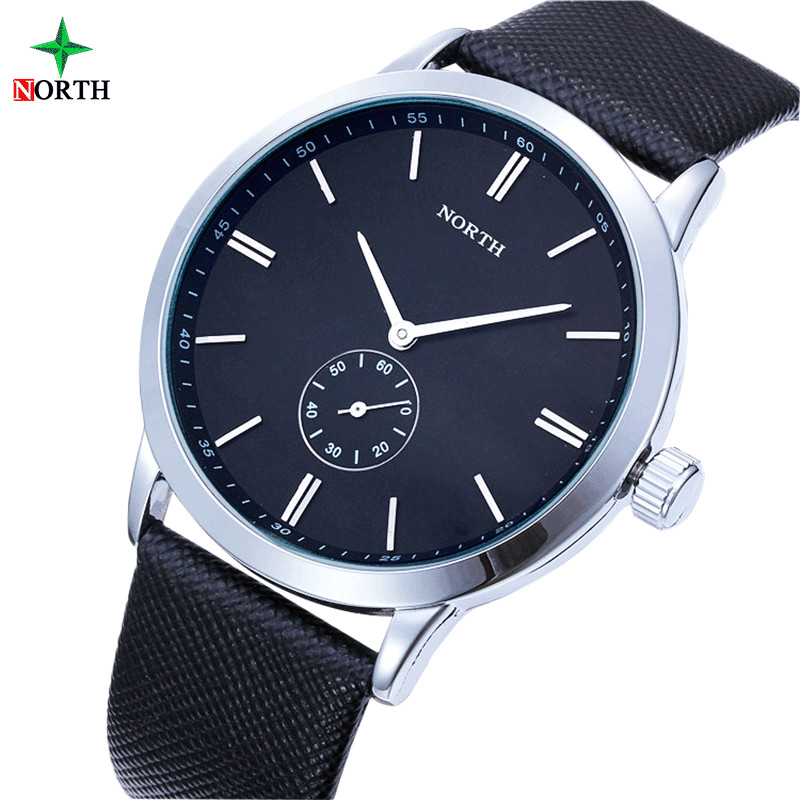 Luxury Brand north Watches Men Dress Genuine leather waterproof Men's Fashion Sport Clock Quartz watches Men relogio masculino фаркоп mitsubishi pajero sport 2008 lux