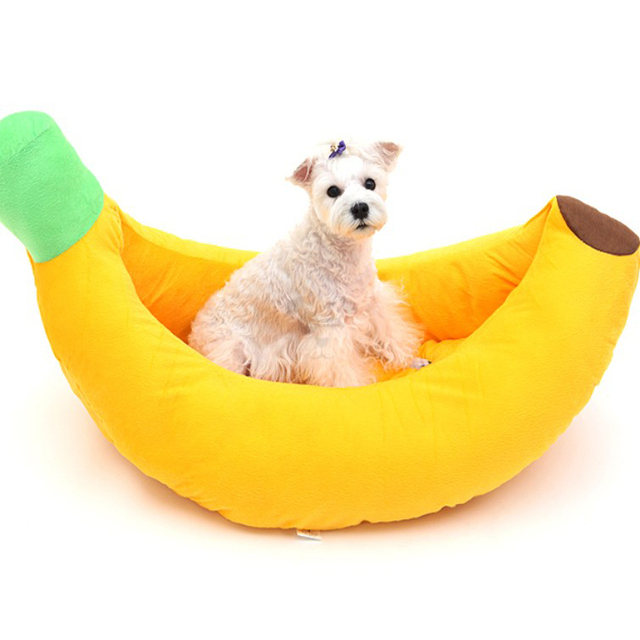 Pet product Banana boat dogs bed Comfortable warm pets cat sofa mat cushion dog beds Many kinds of size for you to choose