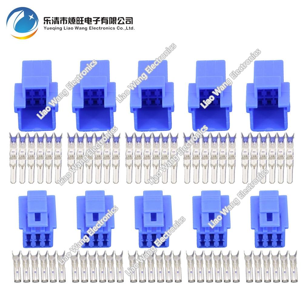 6 Pin plug-in conector do carro luz azul amarelo aleatória com o terminal DJ7065-2.3-11/21 conector carro