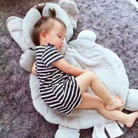 60 91 Cm Giant Elephant And Fox Mat Plush Animal Shape Pillow Sleeping Pad Baby Gift