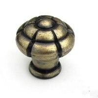 Antique Brass Drawer Knob Bronze Kichen Cabinet Dresser Cupbord Door Pull Knob Antique Furniture Decoration Hardware