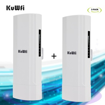 KuWFi CPE Router 2.4G 3KM Wifi Bridge Outdoor Wifi Repeater Wifi Extender Access Point Router Support Gateway Super WDS