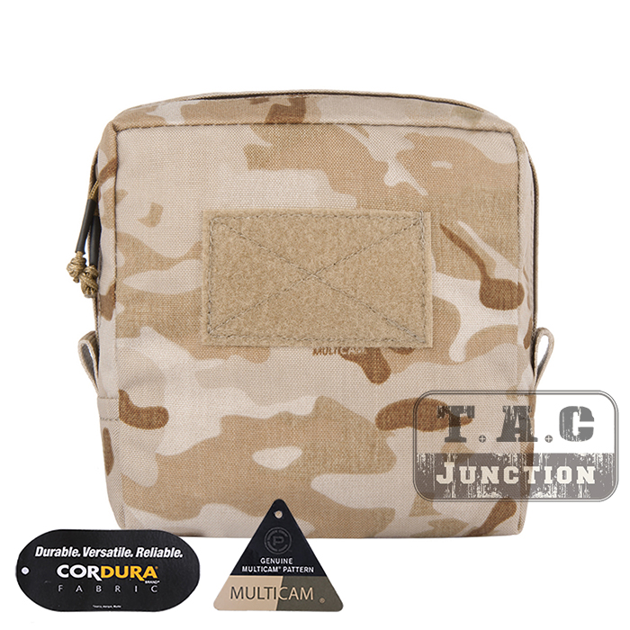 EmersonGear Tactical MOLLE 7 x 7 Utility Pouch Accessories Storage Bag Medical Admin Pouch Tool Organizer Multicam Arid