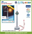 New 2014 Clever&Happy  3d puzzle Milad Tower (Iran) adult puzzle diy paper model learning & education learning & education