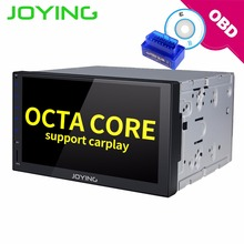 "JOYING 8 Core 4GB+32GB Android 8.1 2 DIN 7"" Car radio cassette recorder GPS Stereo Head Unit Autoradio Support carplay with OBD"