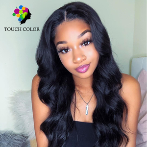 Touch Color Hair Body Wave Hair 13x6 Lace Front Human Hair 130% Density Wigs For Black Women Brazilian Wigs  Remy Human Hair